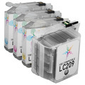 Compatible LC209 & LC205 4 Pack for Brother