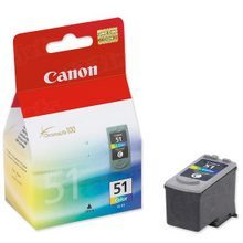 Canon CL-51 Tri-Color OEM High-Yield Ink Cartridge, 0618B002