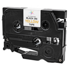 Compatible Brother TZe631 Black on Yellow Tape for the P-Touch  - 0.47 in x 26.2 ft (12 mm x 8 m)