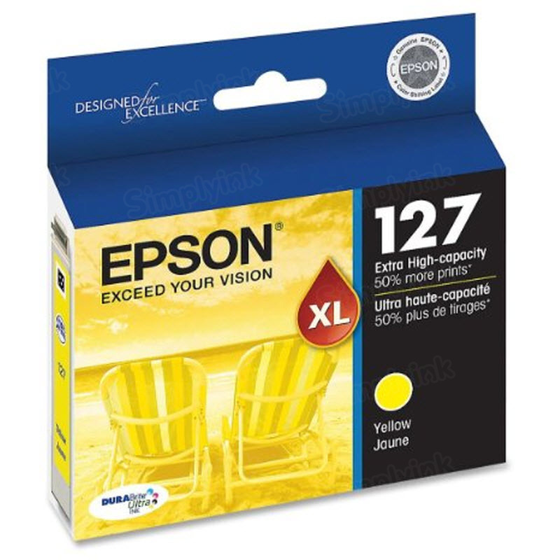 Epson 127 Yellow OEM Ink Cartridge (T127420)
