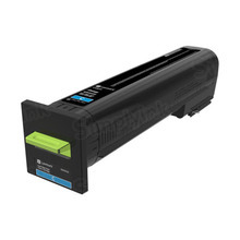Lexmark OEM High Yield Cyan Laser Toner Cartridge, 82K0H20 (CX820) (17,000 Page Yield)u00a0