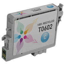 Remanufactured Epson T060220 (T0602) Cyan Ink Cartridges