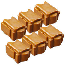 Compatible Xerox Set of 6 Yellow 108R01016 Solid Ink Blocks for the ColorQube 8900