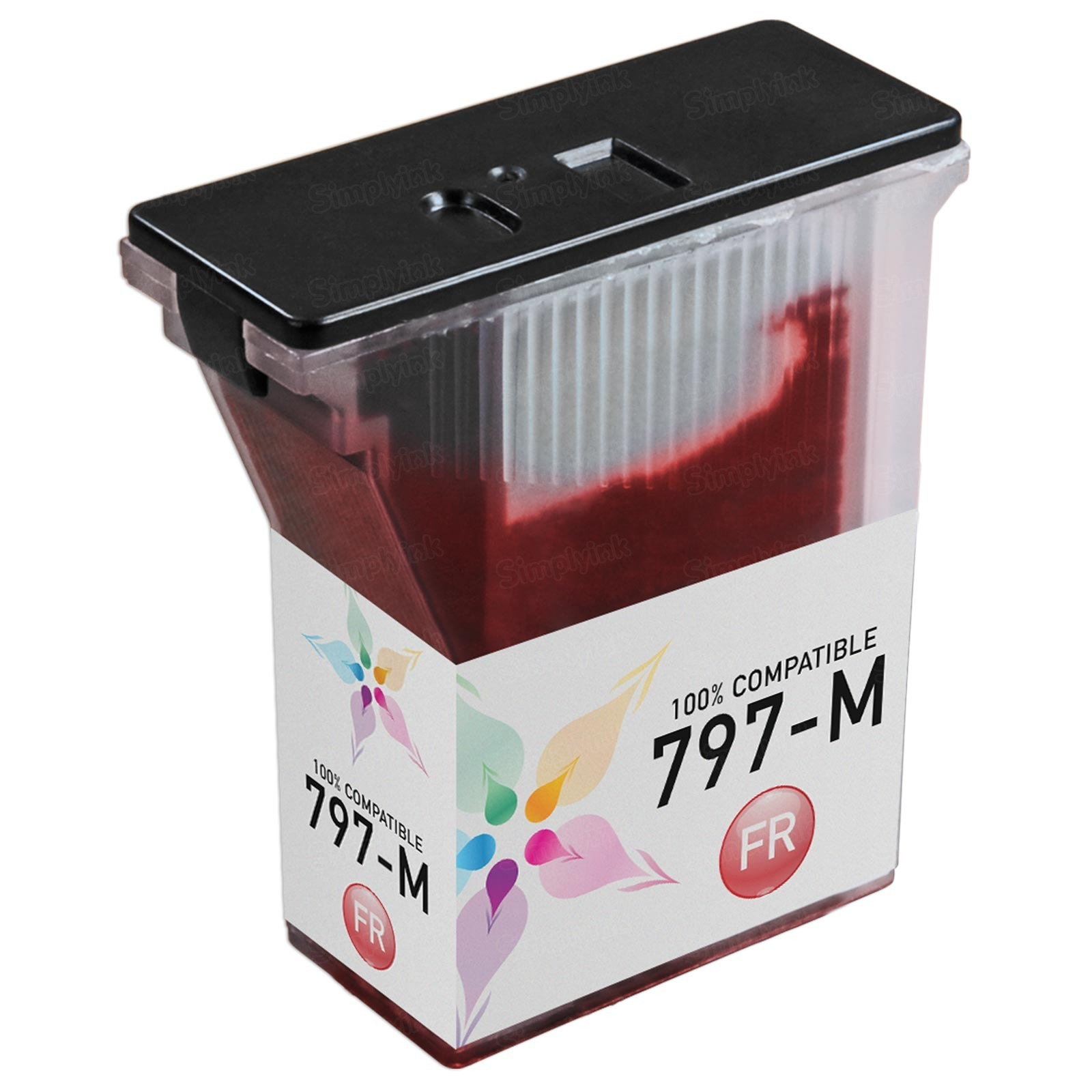 Compatible Replacement for Pitney Bowes 797-M Fluorescent Red Ink for the MailStation K7M0