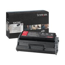Lexmark OEM High Yield Black Laser Toner Cartridge, 12A7305 (E321 and E323 series) (6,000 Page Yield)
