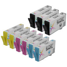 Remanufactured Replacement Bulk Set of 9 for HP 564XL Ink - 3 Black & 2 Each of Cyan, Magenta, Yellow - $6.88 Each