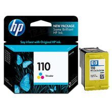 Original HP 110 Tri-Color Ink Cartridge in Retail Packaging (CB304AN)