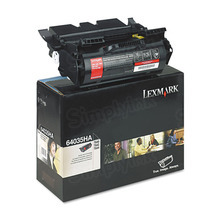 Lexmark OEM High Yield Black Laser Toner Cartridge, 64035HA (T630/650/642) (21,000 Page Yield)u00a0