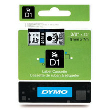 Dymo 40910 Black on Clear OEM 3/8 Label Tape