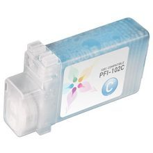 Compatible Canon PFI-102C Cyan Ink Cartridges