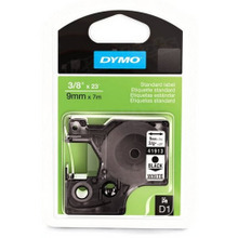 Dymo 41913 Black on White OEM 3/8 Label Tape