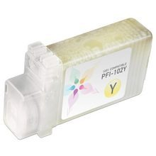 Compatible Canon PFI-102Y Yellow Ink Cartridges