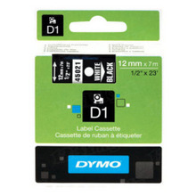 Dymo 45013 Black on White OEM 1/2 Label Tape