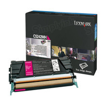Lexmark OEM High Yield Magenta Laser Toner Cartridge, C5242MH (C524/C532/C536) (5,000 Page Yield)