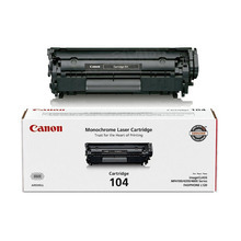 Canon 104 (2,000 Pages) High Yield Black Laser Toner Cartridge - OEM 0263B001AA