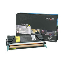 Lexmark OEM High Yield Yellow Laser Toner Cartridge, C5342YX (C534 series) (7,000 Page Yield)