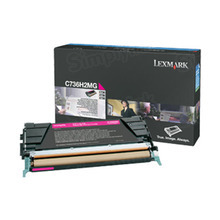 Lexmark OEM High Yield Magenta Laser Toner Cartridge, C736H2MG (C734/X736/X738) (10,000 Page Yield)