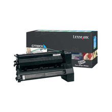 Lexmark OEM Extra High Yield Cyan Laser Toner Cartridge, C7722CX (C772 series) (15,000 Page Yield)u00a0