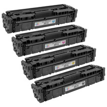 Compatible Replacement for HP 201X High Yield Black, Cyan, Magenta, Yellow Set of 4 Toner Cartridges