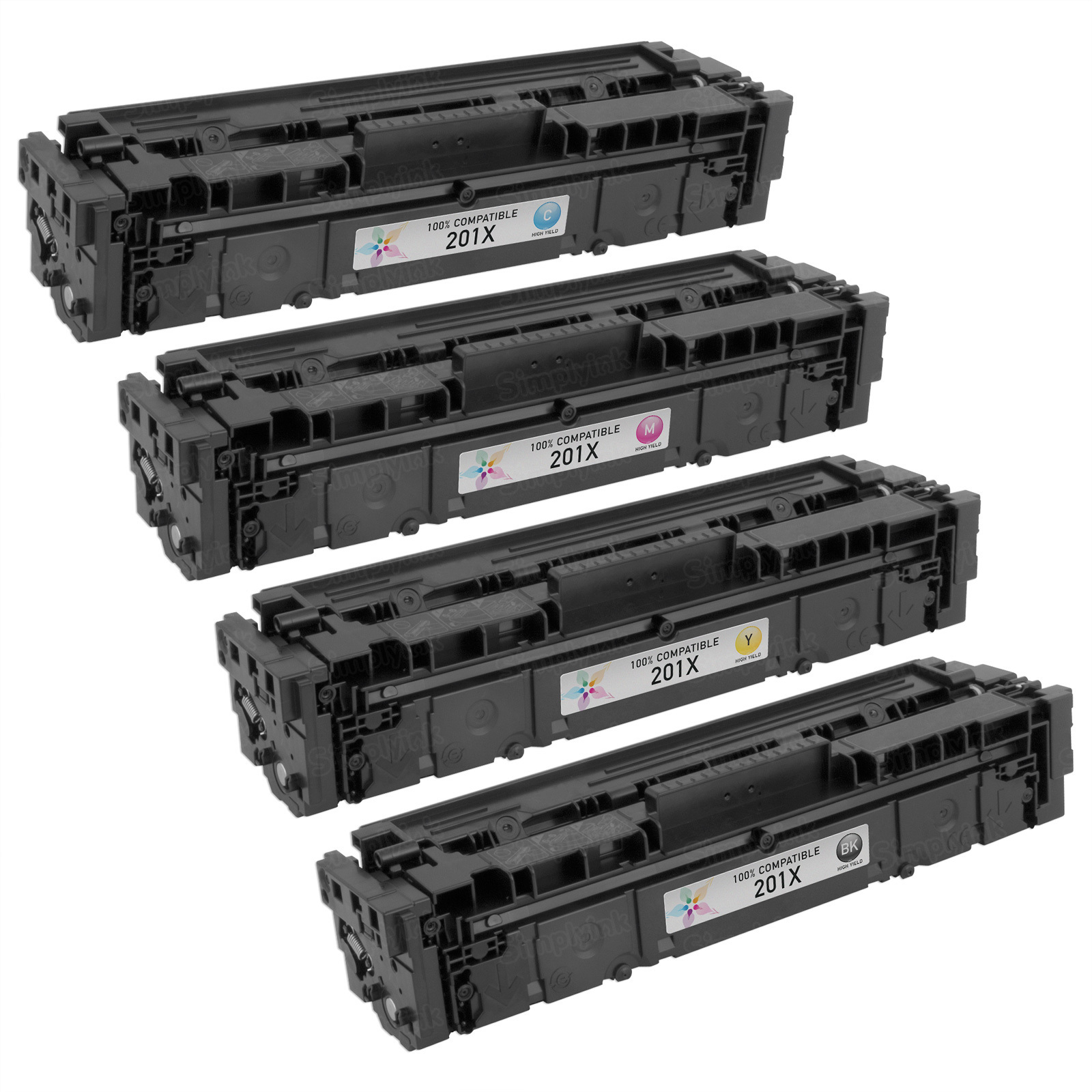 Compatible Replacement for HP 201X (Bk, C, M, Y) Set of 4 Toners