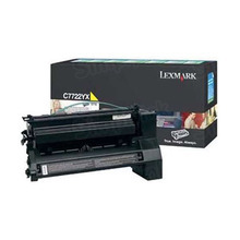 Lexmark OEM Extra High Yield Yellow Laser Toner Cartridge, C7722YX (C772 series) (15,000 Page Yield)u00a0
