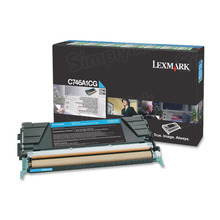 Lexmark OEM Cyan Return Program Laser Toner Cartridge, C746A1CG (C746/C748 Series) (7K Page Yield)