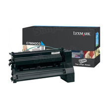 Lexmark OEM High Yield Cyan Laser Toner Cartridge, C780H2CG (C780/C782/X782E) (10,000 Page Yield)