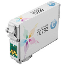 Remanufactured Epson T078220 (T0782) Cyan Ink Cartridges