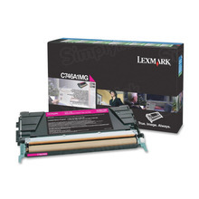 Lexmark OEM Magenta Return Program Laser Toner Cartridge, C746A1MG (C746/C748 Series) (7K Page Yield)