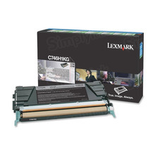 Lexmark OEM High Yield Black Return Program Laser Toner Cartridge, C746H1KG (C746/C748 Series) (12K Page Yield)