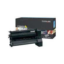 Lexmark OEM High Yield Yellow Laser Toner Cartridge, C780H2YG (C780/C782/X782E) (10,000 Page Yield)
