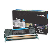Lexmark OEM High Yield Cyan Return Program Laser Toner Cartridge, C748H1CG (C748 Series) (10K Page Yield)