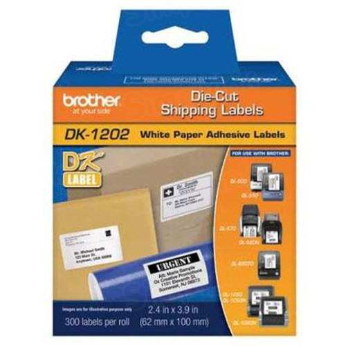 Genuine DK-1202 (2.4 in x 3.9 in) White Shipping Labels for Brother