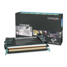 Lexmark OEM Black Return Program Laser Toner Cartridge, C734A1KG (C734/C736/X734/X736/X738 Series) (8K Page Yield)