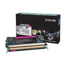Lexmark OEM High Yield Magenta Return Program Laser Toner Cartridge, C748H1MG (C748 Series) (10K Page Yield)