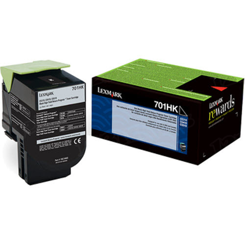 Lexmark Original HY Black Return Program Toner, 70C1HK0 (701HK)