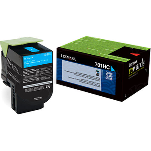 Lexmark Original HY Cyan Return Program Toner, 70C1HC0 (701HC)
