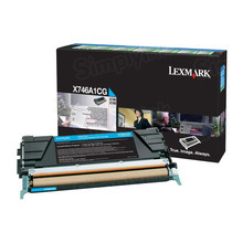 Lexmark OEM Cyan Return Program Laser Toner Cartridge, X746A1CG (X746/X748 Series) (7K Page Yield)