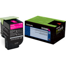 Lexmark OEM High Yield Magenta Return Program Laser Toner Cartridge, 70C1HM0 (CS310/CS410/CS510 Series) (3K Page Yield)