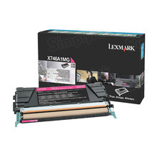 Lexmark OEM Magenta Return Program Laser Toner Cartridge, X746A1MG (X746/X748 Series) (7K Page Yield)