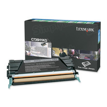 Lexmark OEM High Yield Black Return Program Laser Toner Cartridge, C736H1KG (X736/X738/C736 Series) (12K Page Yield)