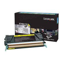 Lexmark OEM Yellow Return Program Laser Toner Cartridge, X746A1YG (X746/X748 Series) (7K Page Yield)