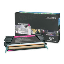 Lexmark OEM High Yield Magenta Return Program Laser Toner Cartridge, C736H1MG (X736/X738/C736 Series) (10K Page Yield)