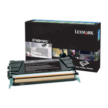 Lexmark OEM High Yield Black Return Program Laser Toner Cartridge, X746H1KG (X746/X748 Series) (12K Page Yield)