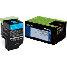 Lexmark OEM Cyan Return Program Laser Toner Cartridge, 70C10C0 (CS310/CS410/CS510 Series) (1K Page Yield)