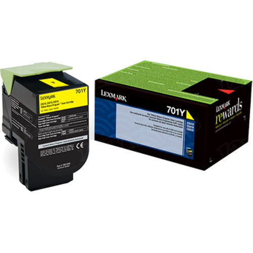 Lexmark Original Yellow Return Program Toner, 70C10Y0 (701Y)