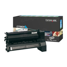 Lexmark OEM High Yield Cyan Return Program Laser Toner Cartridge, C7700CH (C770/C772/X772 Series) (10K Page Yield)