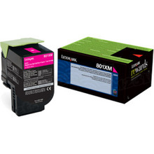 Lexmark OEM High Yield Magenta Return Program Laser Toner Cartridge, 80C1XM0 (CX510 Series) (4K Page Yield)