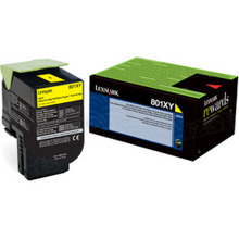 Lexmark OEM High Yield Yellow Return Program Laser Toner Cartridge, 80C1XY0 (CX510 Series) (4K Page Yield)