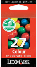 Lexmark #27 Color Inkjet Cartridge, OEM 10N0227
